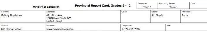 report card 2