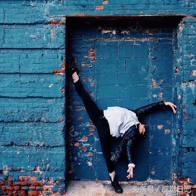 芭蕾姿势在街头