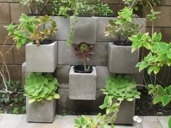 水泥砖创意美花园