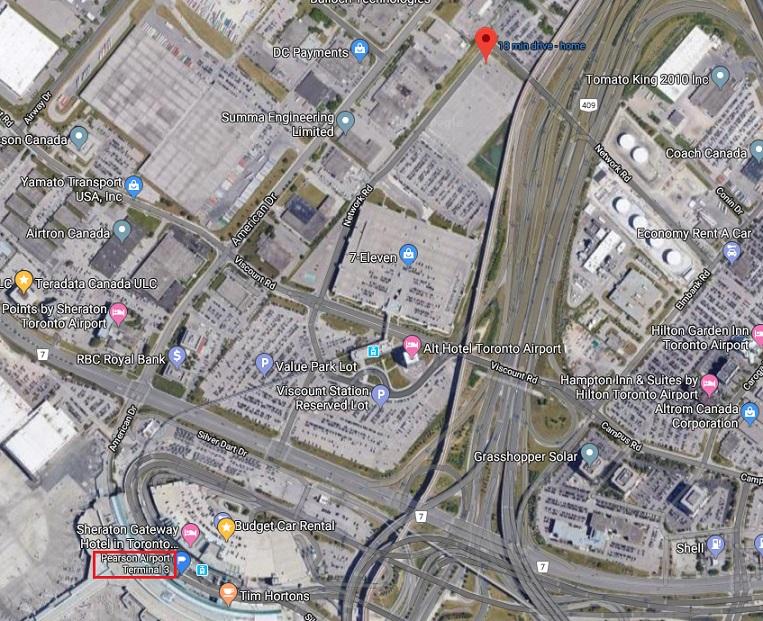 多伦多皮尔逊机场接人停车处大全