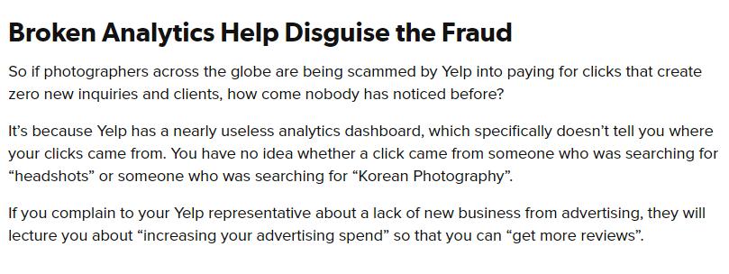 专门欺诈小企业主的公司Yelp