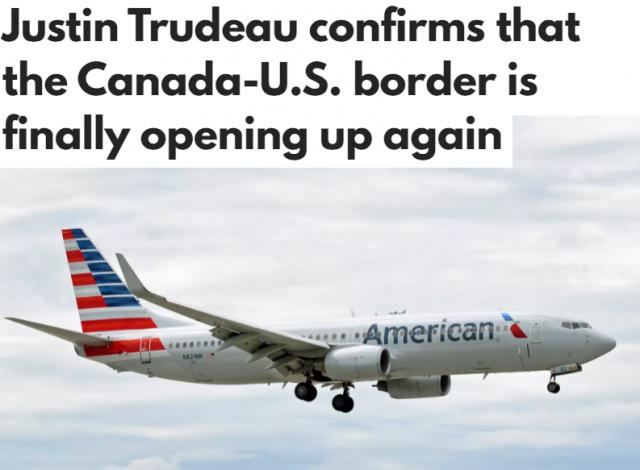 加拿大9月初重开国境
