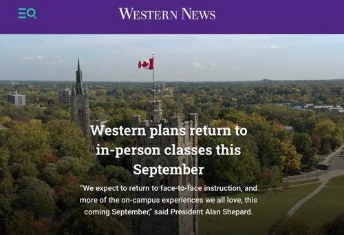 加拿大高校要求学生秋季返校上课